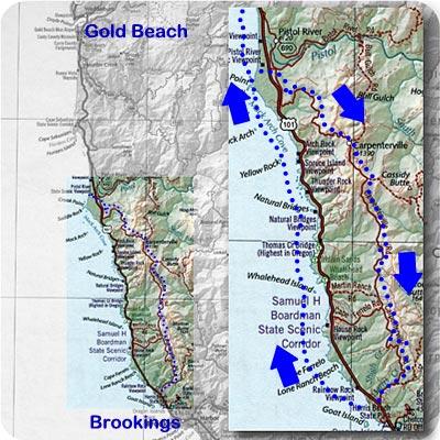 Carpenterville Loop Scenic Drive - Gold Beach Oregon