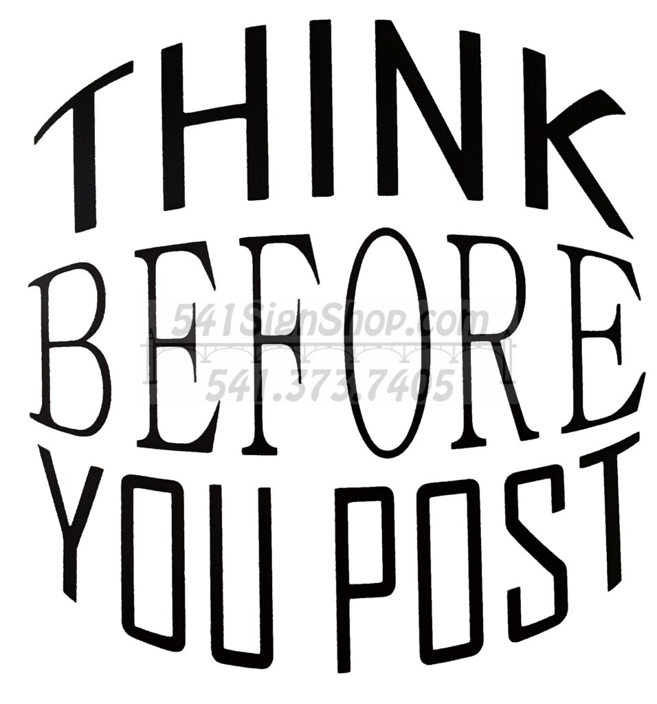 Think before you post sticker