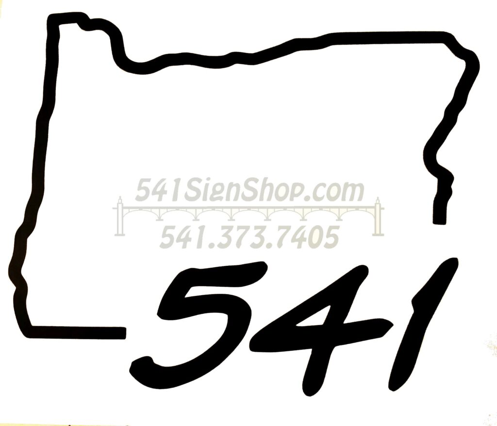Local and Regional Vinyl Stickers by 541SignShop